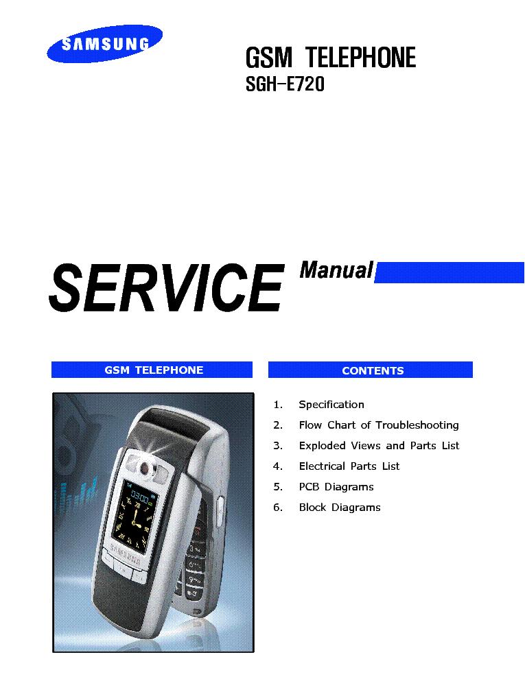 Схема сотового телефона Other SAMSUNG SGH-E720.
