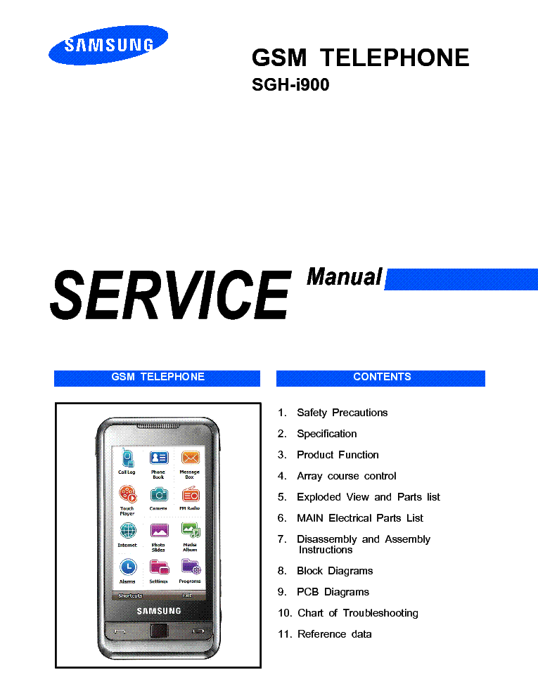 samsung sgh i900 service manual service manual download schematics rh elektrotanya com Samsung I900 Charger Samsung I900 White