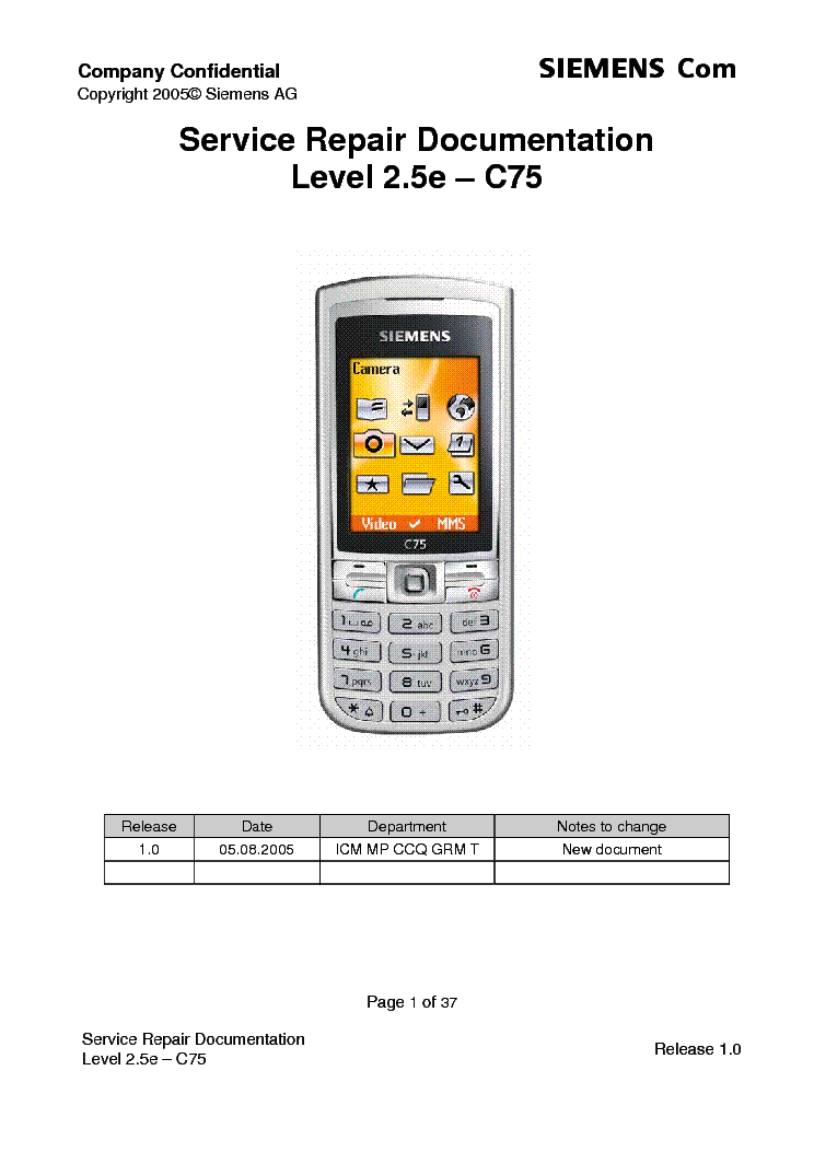 siemens c75 service repair documentation level 2 5e service manual rh elektrotanya com Siemens User Manual Siemens Office Phone Manual