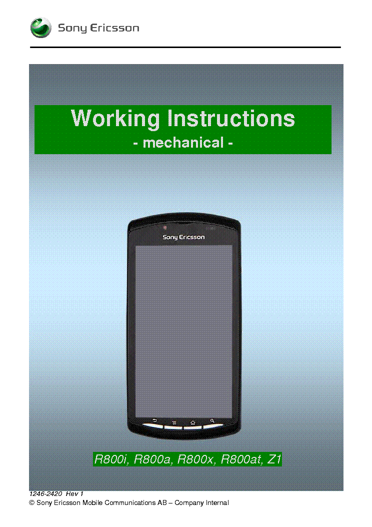 sony ericsson xperia play r800 working instructions mechanical rh elektrotanya com Sony Ericsson Logo Sony Ericsson Xperia Arc X12