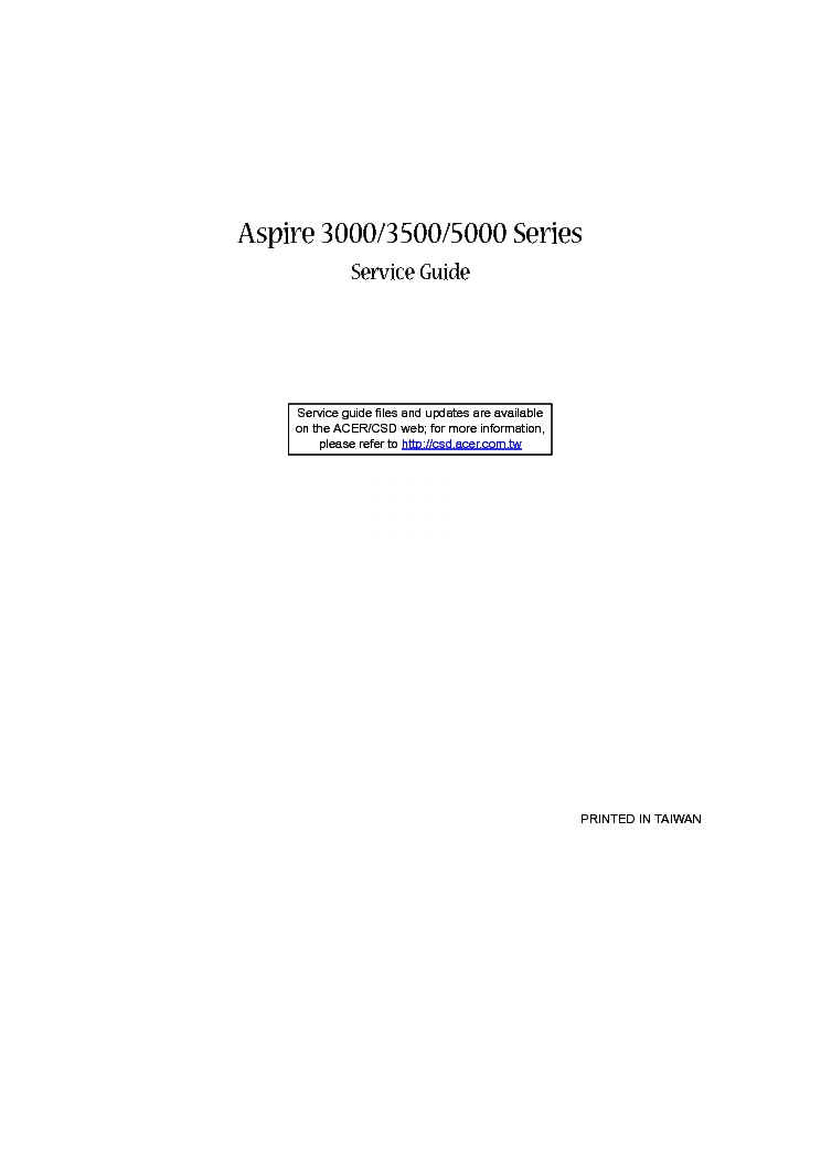 acer aspire 3000 3500 5000 series service manual download rh elektrotanya com acer aspire 3000 service manual pdf Acer Aspire Motherboard Manual