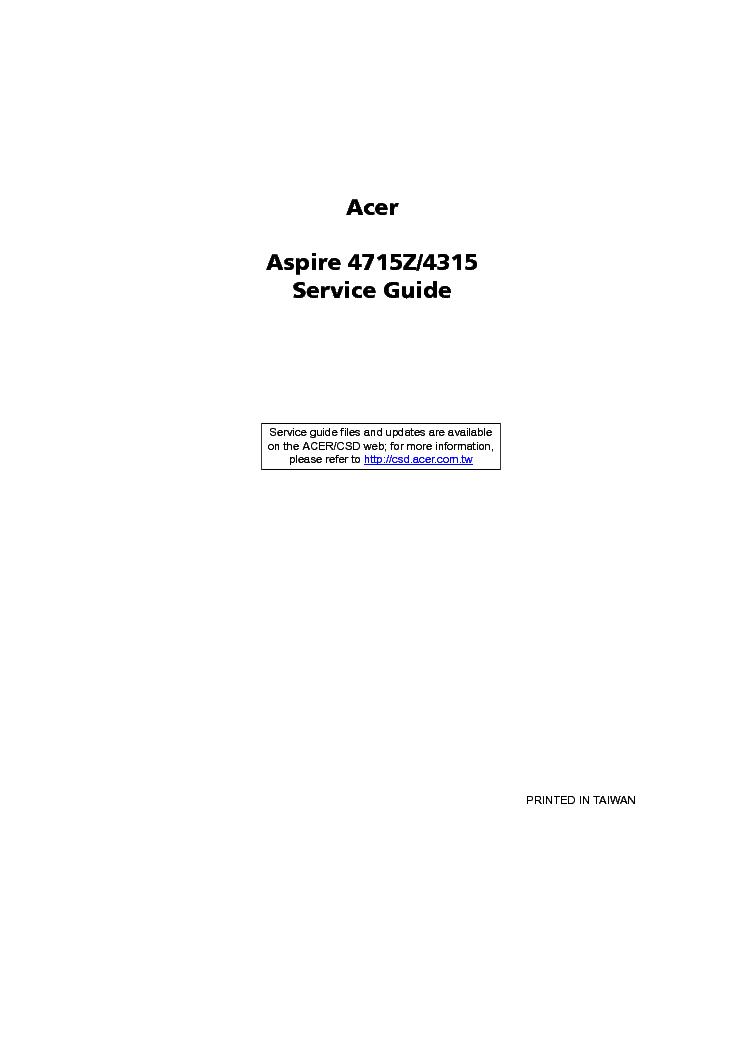 acer aspire 4715z 4315 service manual download schematics eeprom rh elektrotanya com Acer Aspire Z5600 Manual Acer Aspire Z5600 Manual
