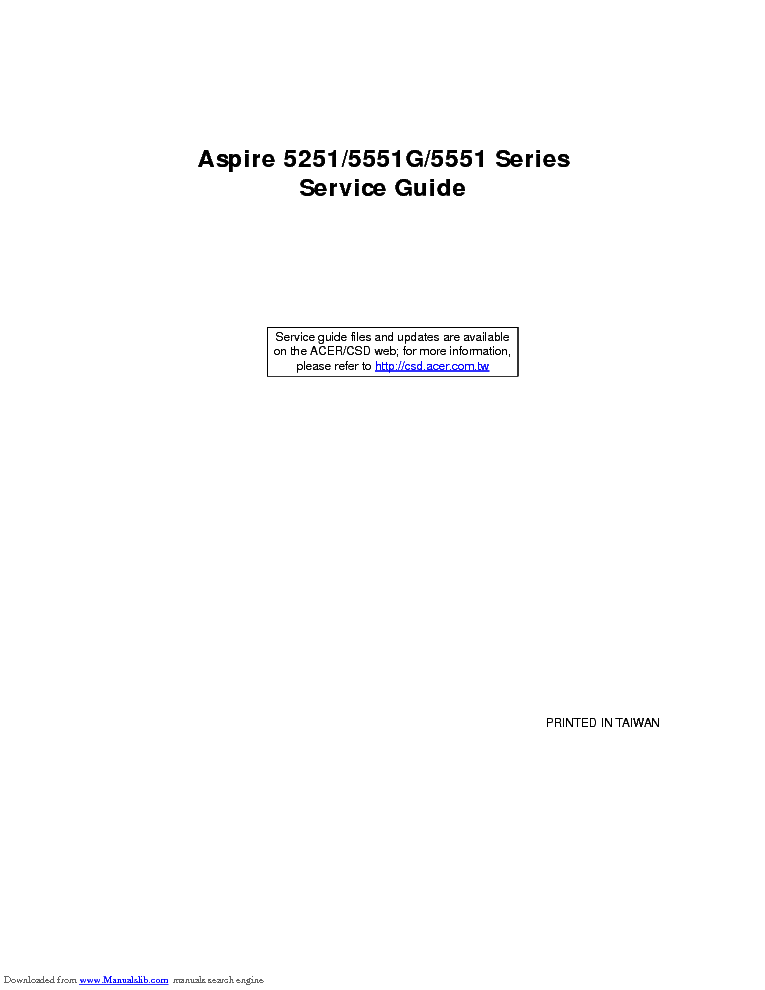 acer aspire 5251 5551g 5551 series service guide service manual rh elektrotanya com Ron's Guide Service Ron's Guide Service