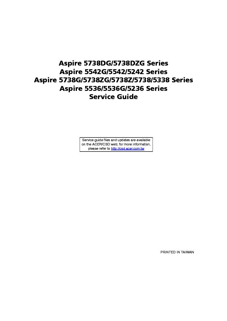 Acer Aspire 5738dg 5738dzg 5542g 5542 5242 5738g 5738zg
