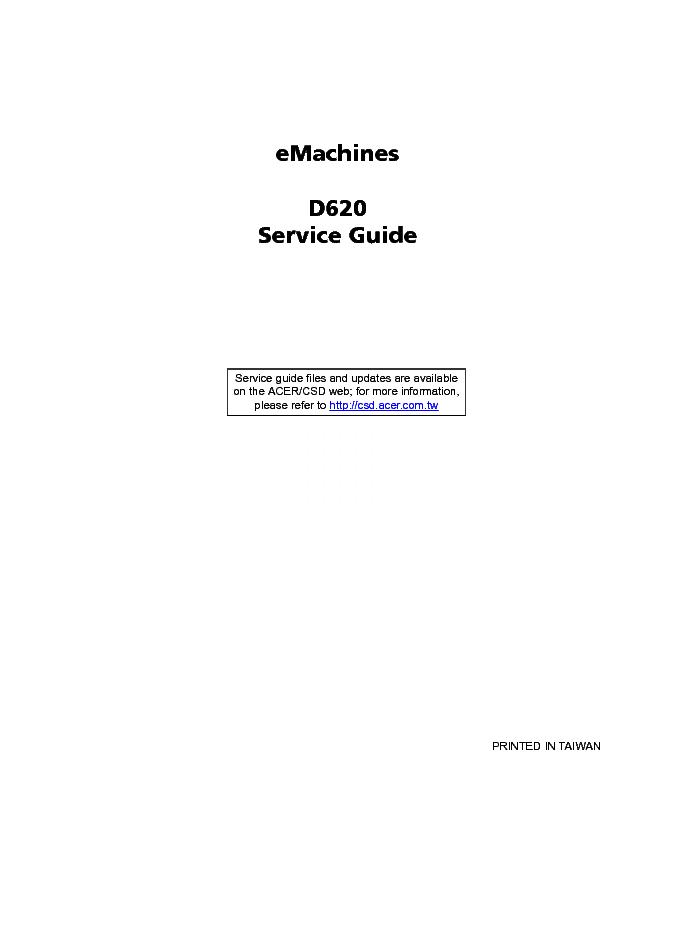 acer emachines d620 service manual repair guide service manual rh elektrotanya com dell latitude d620 service manual lg d620 service manual