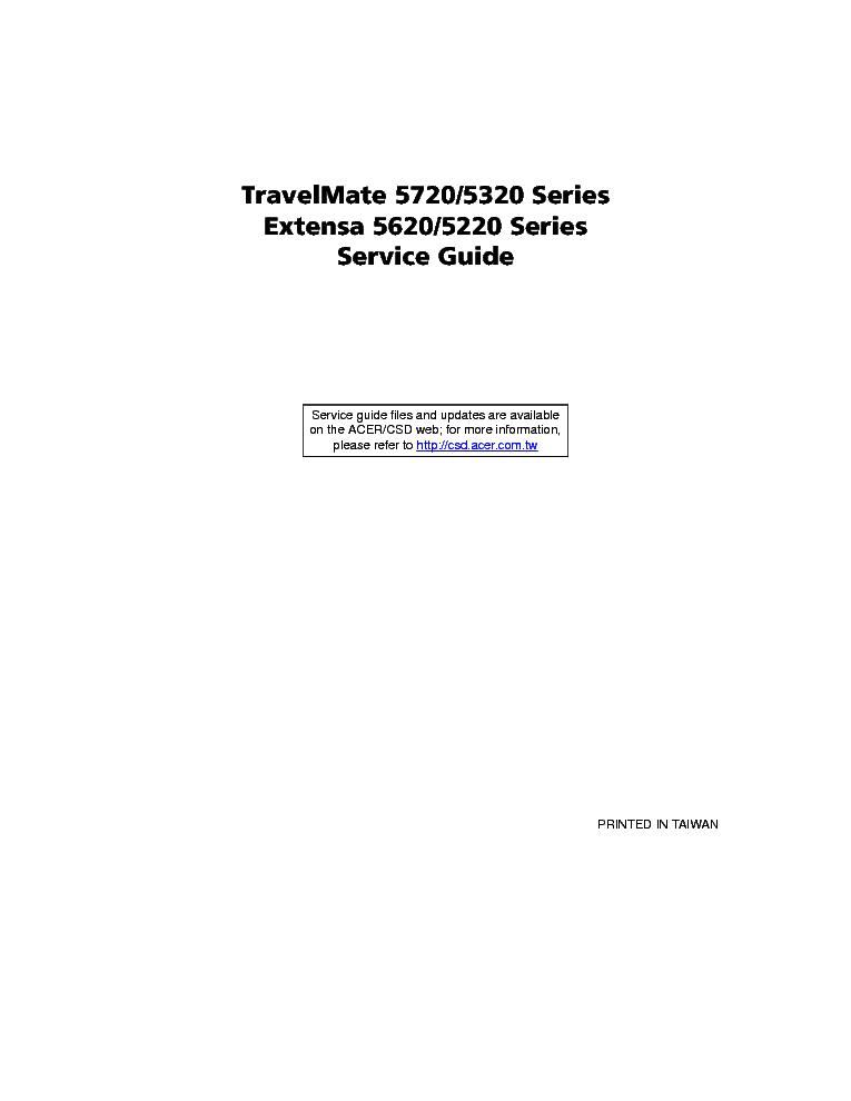 acer travelmate 5720 5320 extensa 5620 5220 sm service manual rh elektrotanya com Acer User Guides and Manuals Acer User Guides and Manuals