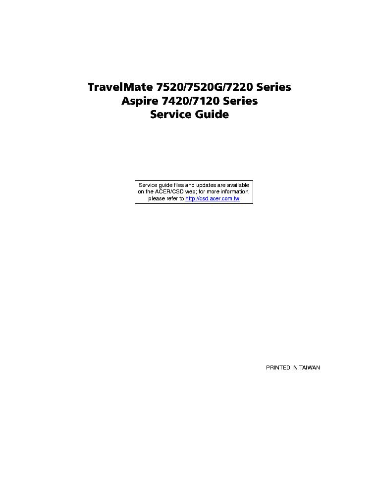 acer travelmate 7520 7520g 7220 aspire 7420 7120 service manual rh elektrotanya com