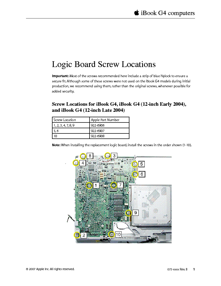 apple ibook g4 mlb screws service manual download schematics rh elektrotanya com iBook G3 PowerPC G4