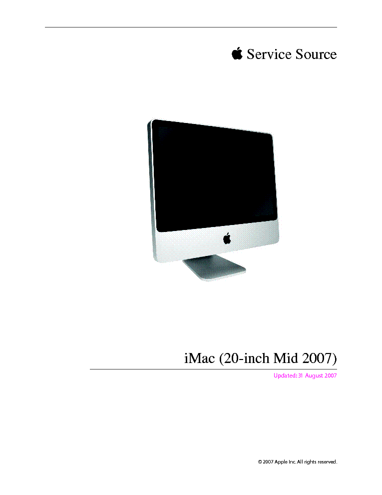 APPLE IMAC 20-INCH MID 2007 Service Manual download ...