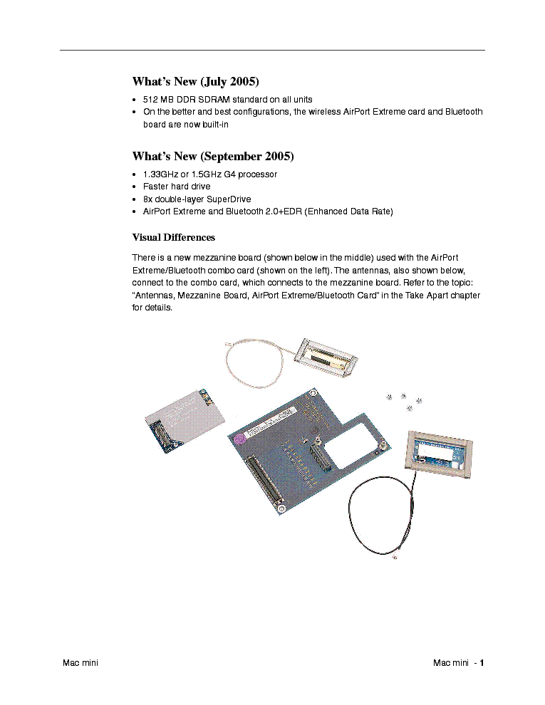 APPLE MAC MINI Service Manual Download, Schematics, Eeprom