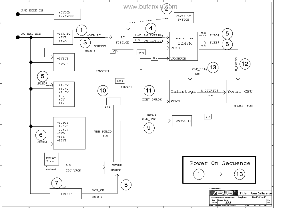 asus a7j rev 2 0 sch service manual download  schematics