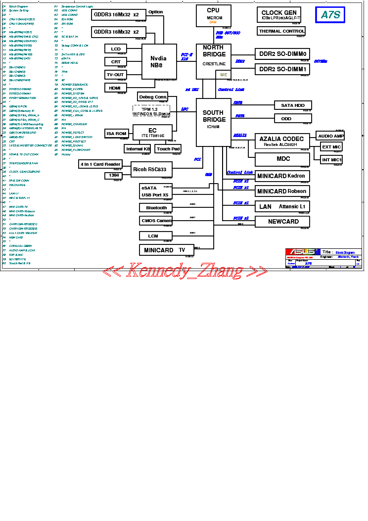 ASUS A7S REV 1.0 SCH