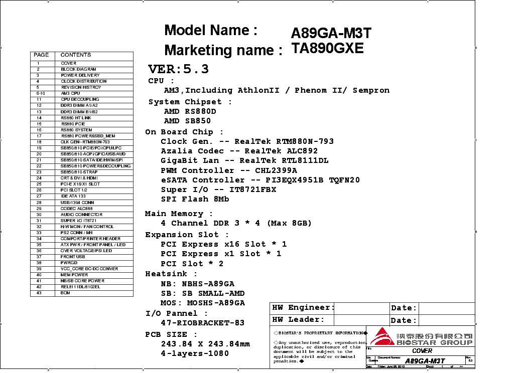 Drivers for Biostar TA890GXE