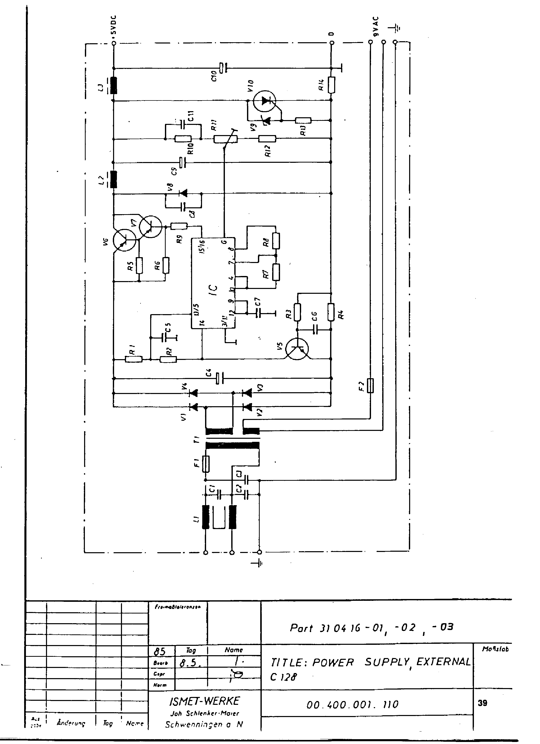 commodore c128 power supply schematics service manual download rh elektrotanya com Commodore 128 Games commodore 128 service manual pdf