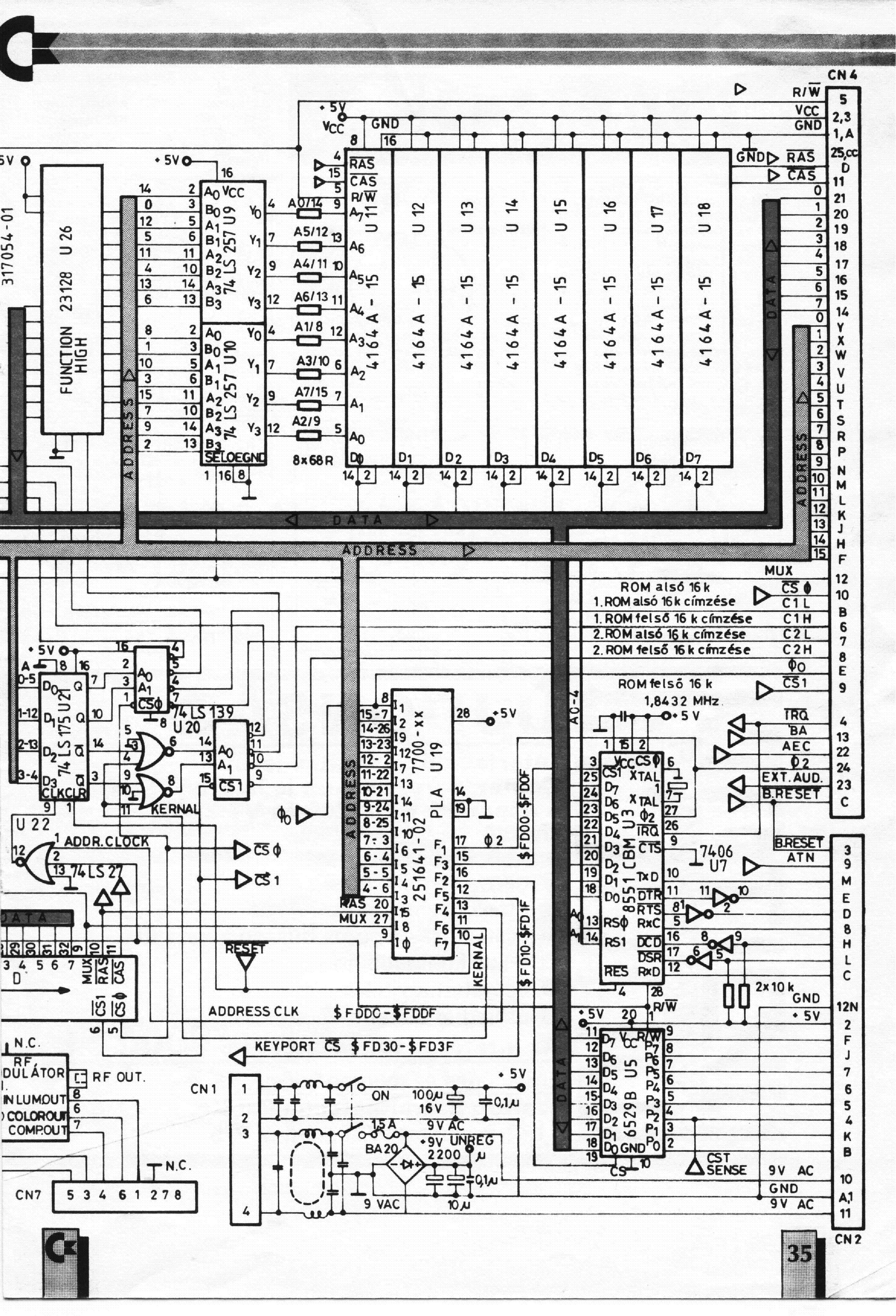 Commodore C4 Plus Schematics Service Manual Download  Schematics  Eeprom  Repair Info For