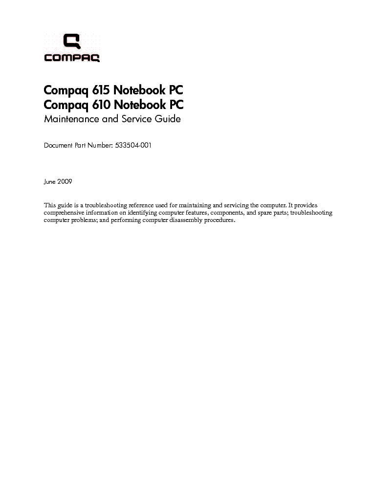 compaq 610 615 service manual download schematics eeprom repair rh elektrotanya com HP 610 Laptop hp compaq 610 user manual