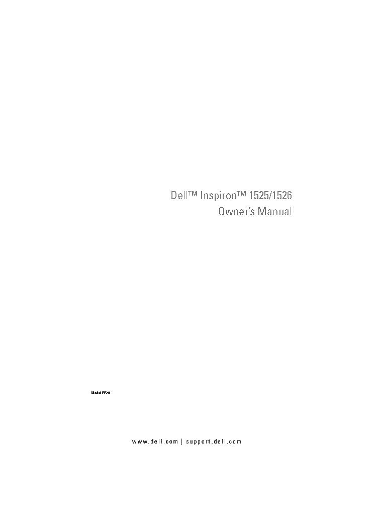 dell manual inspiron 1525