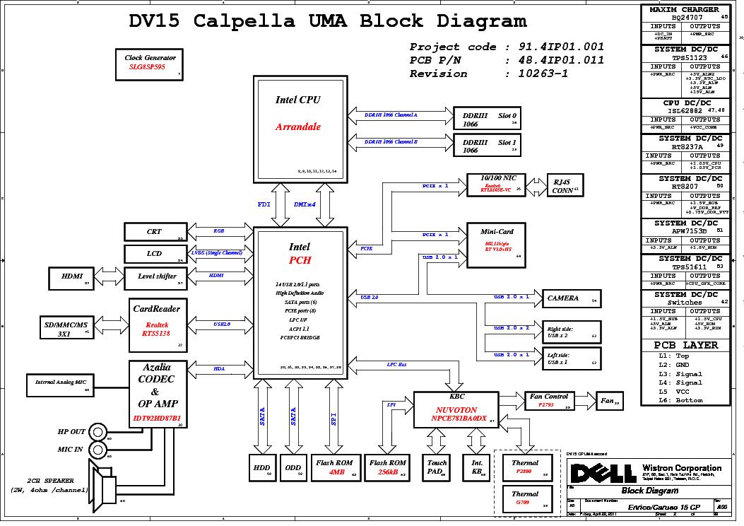 Dell N5050 Schematic