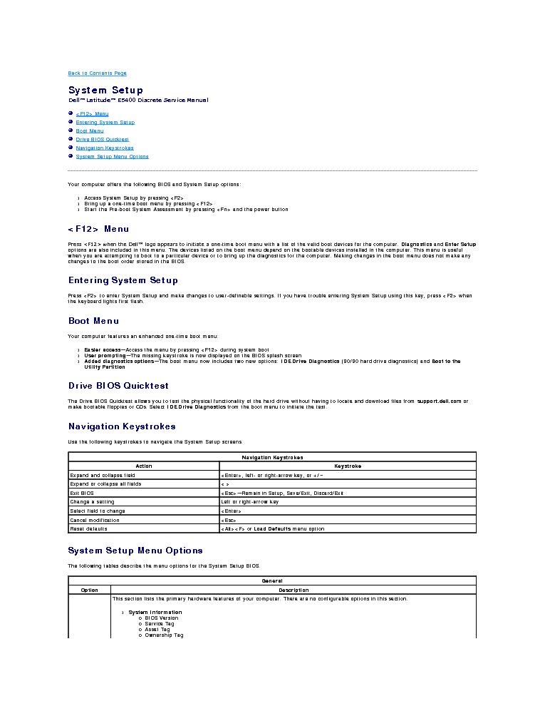 DELL LATITUDE E5400 SM Service Manual download, schematics