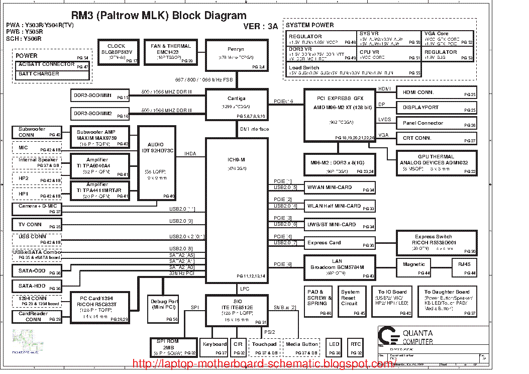 dell studio xps 1340 1640 quanta rm3 paltrow mlk rev 3a sch service rh elektrotanya com Dell Studio XPS M1210 Dell Studio XPS 13 Specs