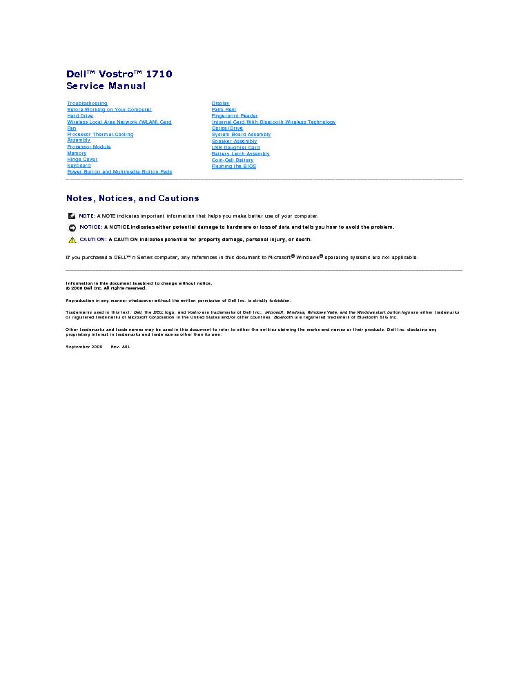 dell vostro 1500 service manual pdf