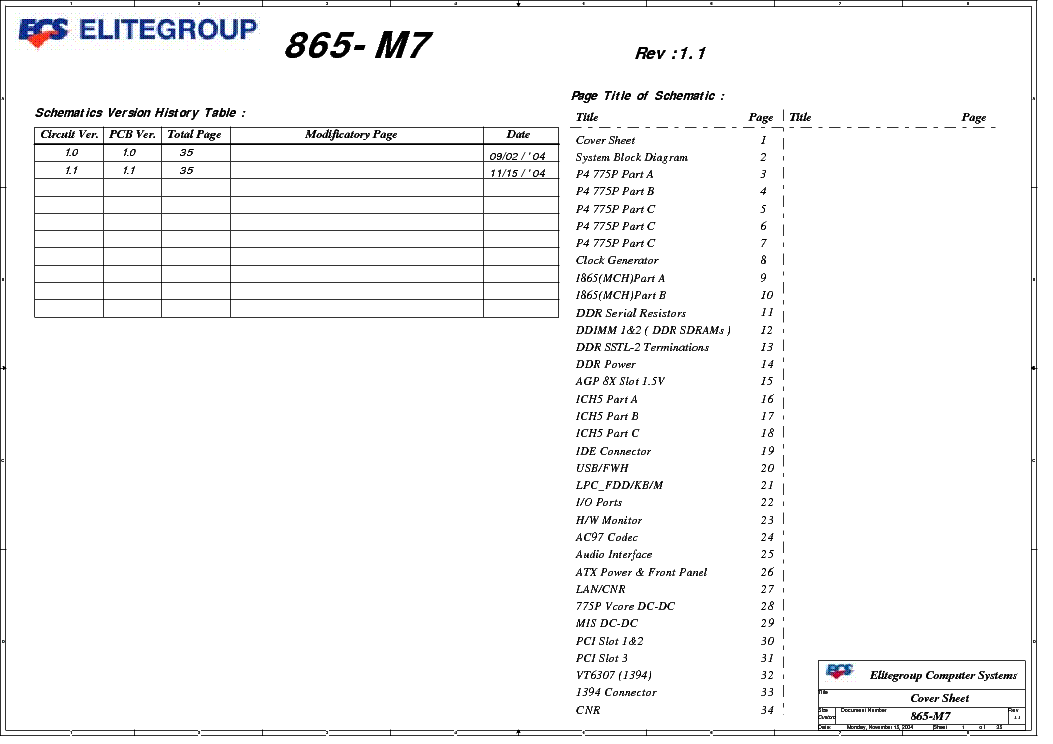 ECS 865-M7 (V2.0) Windows 7