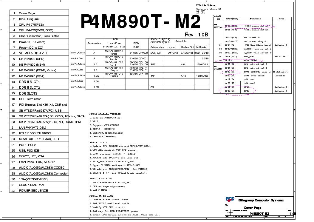 ECS P4M890T-M2 REV 1.0B SCH