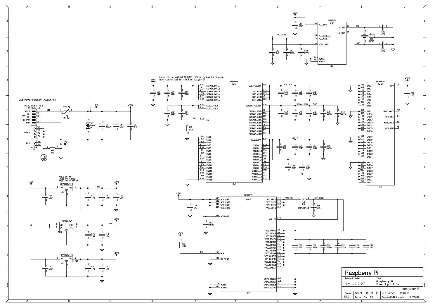 RASPBERRY PI SCH Service Manual download, schematics, eeprom