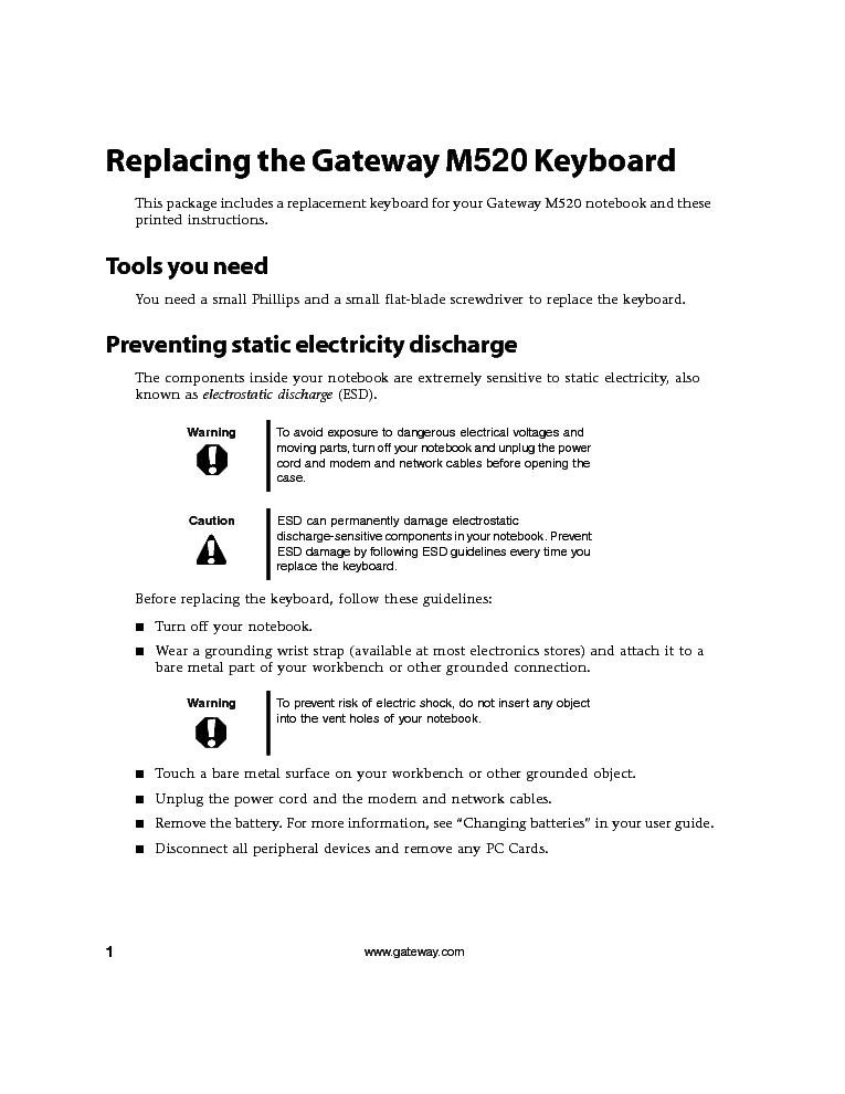 gateway touch manual