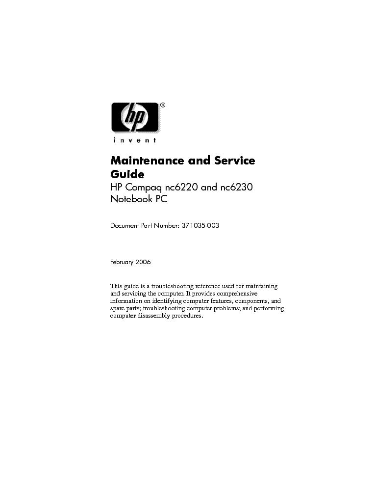 hp compaq nc6220 nc6230 service manual download schematics eeprom rh elektrotanya com HP Compaq Nc6110 HP Laptop Compaq 6230