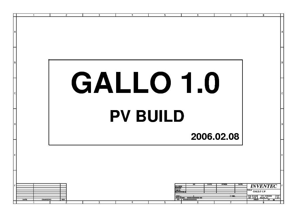HP COMPAQ NX7400 INVENTEC GALLO 1.0 REV A01 SCH service manual (1st page)