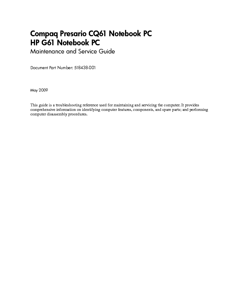 hp cq61-service-manual
