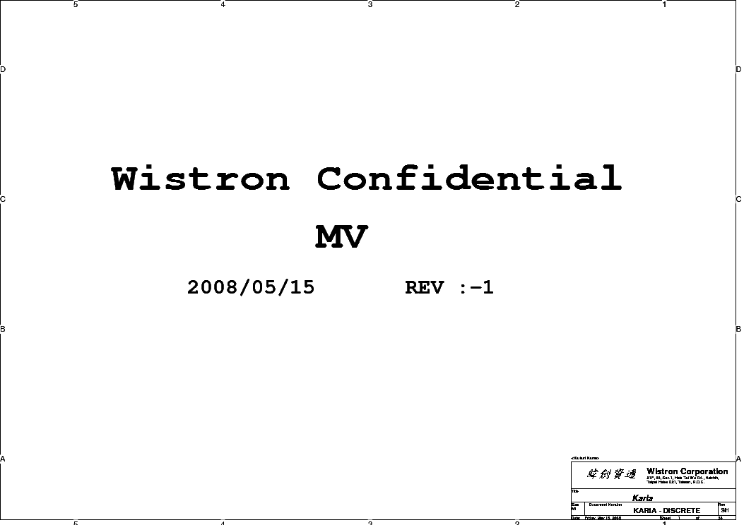 hp elitebook p wistron karia rev  sch service manual free, schematic