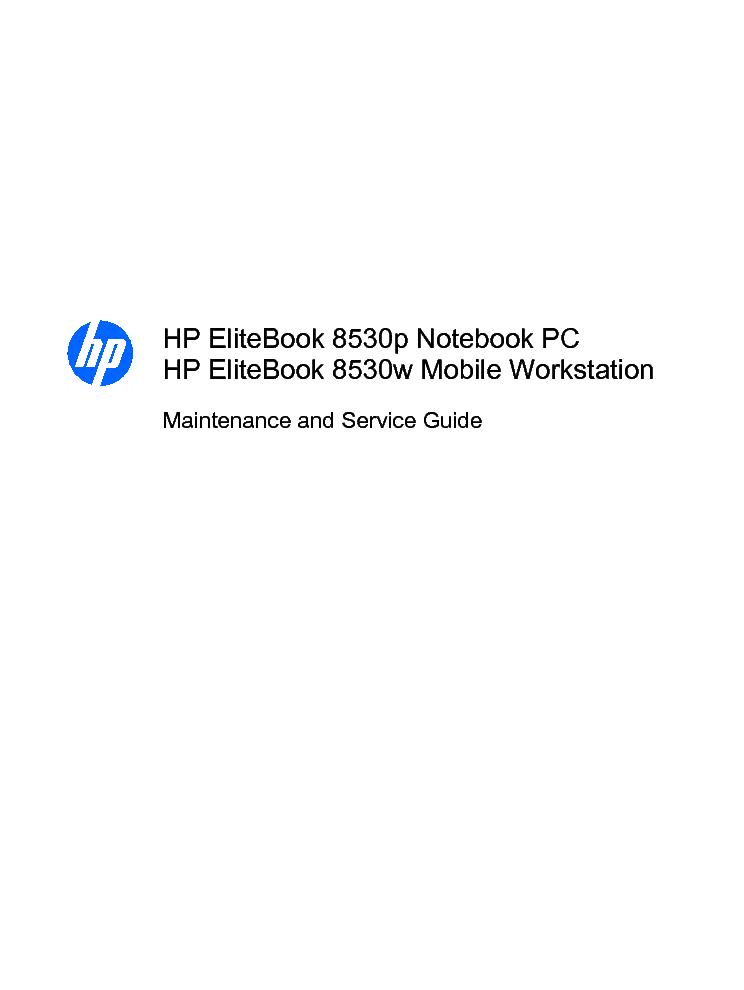 hp elitebook 8530p 8530w service manual download schematics eeprom rh elektrotanya com hp elitebook 8540w service manual HP EliteBook 8530W Specs