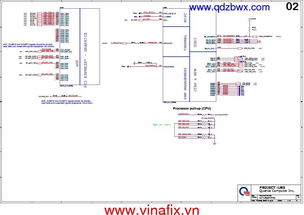 HP PAVILION 15-N249SL QUANTA U83 DA0U83MB6E0 REV 1A SCH