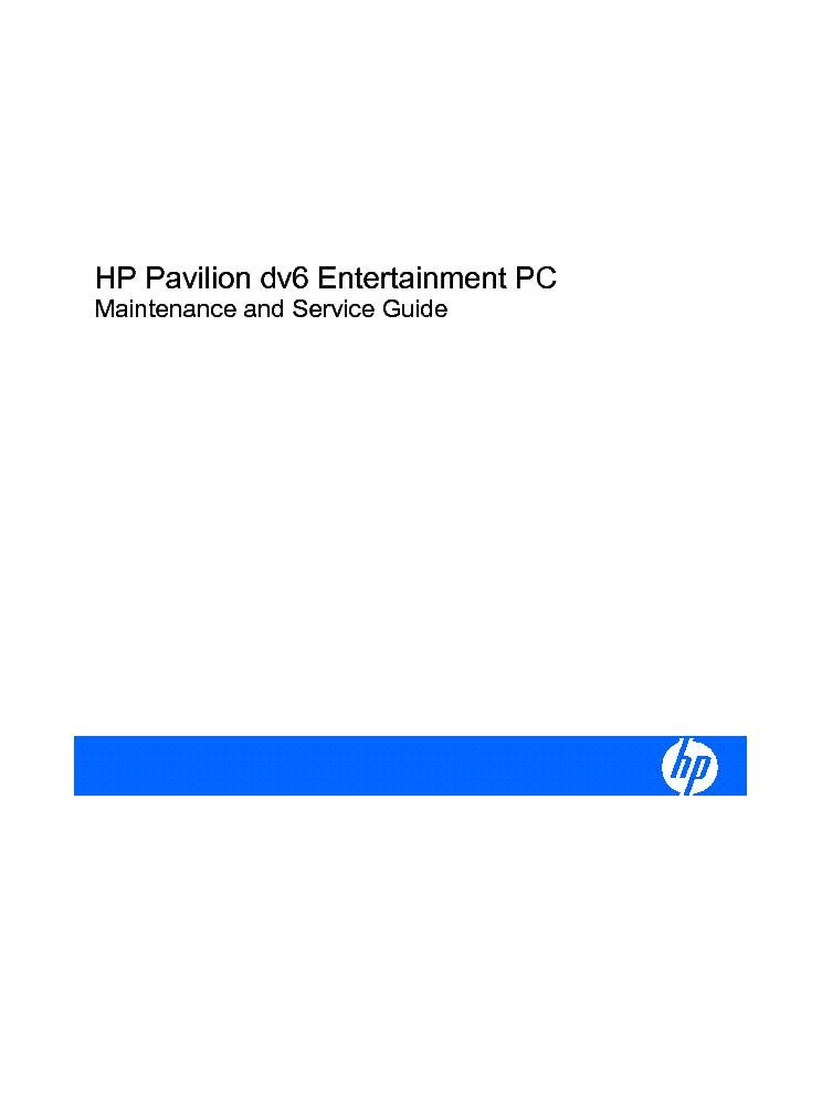 hp pavilion dv6 maintance service guide service manual download rh elektrotanya com hp pavilion dv7 service guide hp pavilion g7 service guide