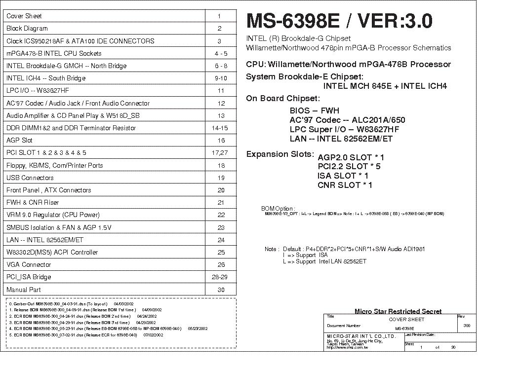 MSI MS-6398E DRIVERS