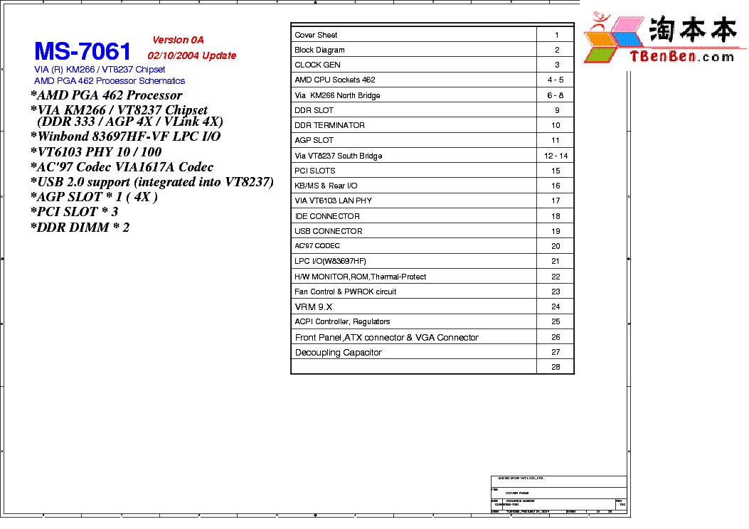 msi ms 7061 rev 0a sch service manual download schematics eeprom rh elektrotanya com