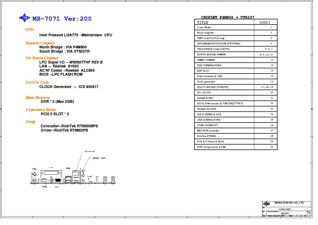 Msi ms-7318 rev 100 sch service manual download, schematics.