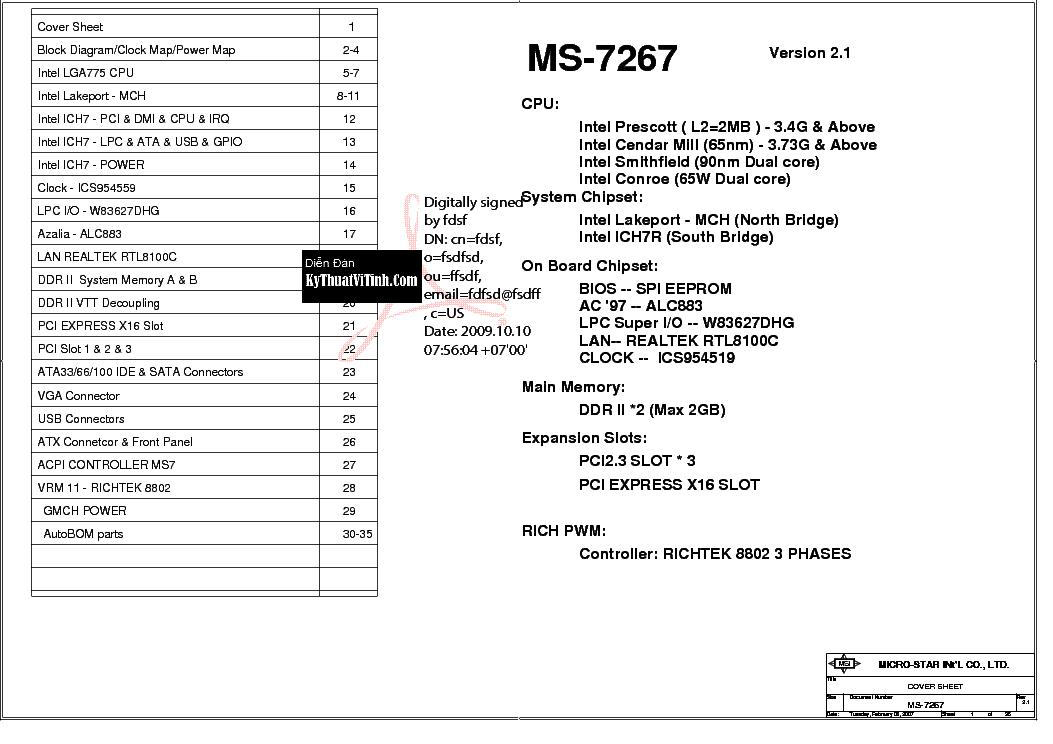 MSI MS-7267 SPI EEPROM REV 2 1 SCH Service Manual download