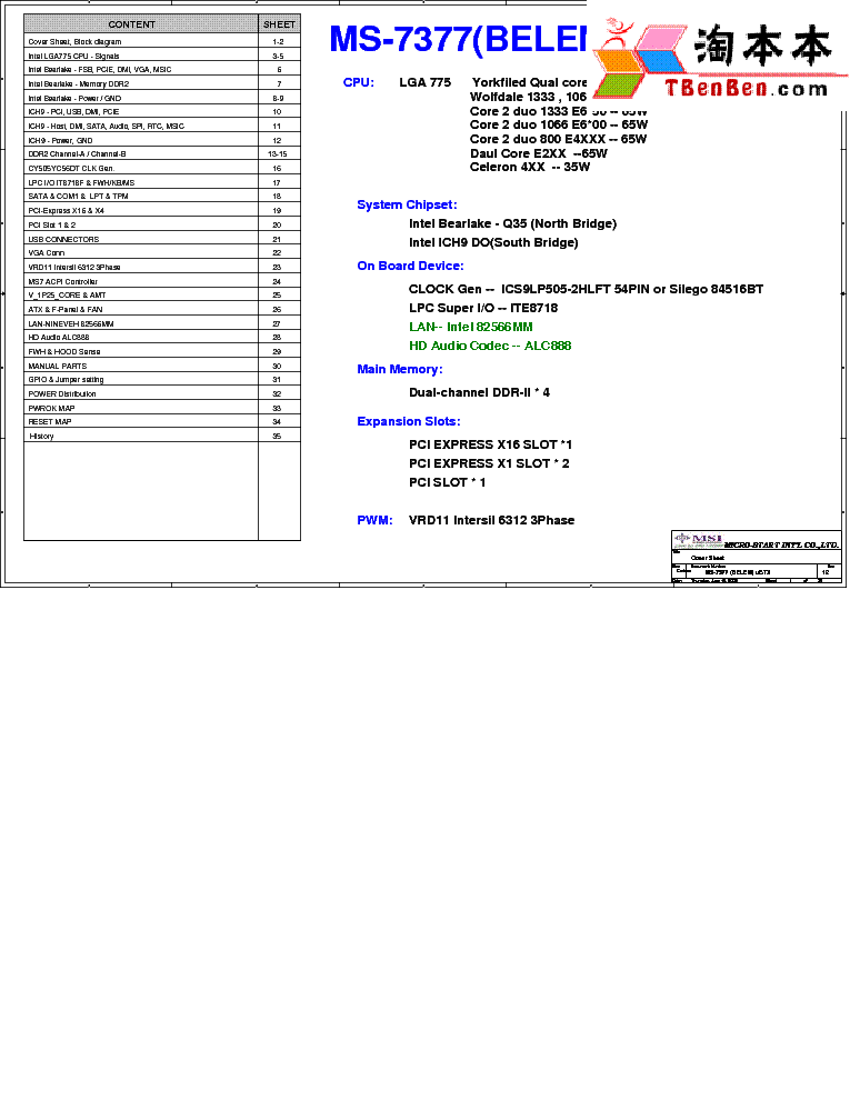 MSI MS-7377 REV 12 SCH service manual