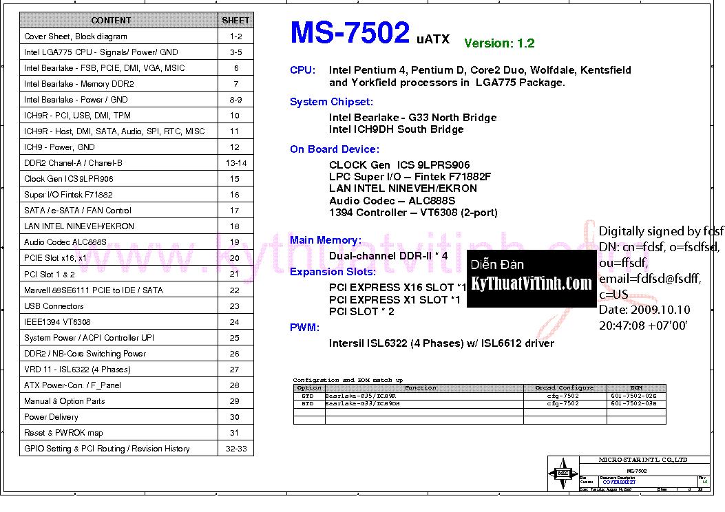 Msi Ms 7502 Rev 1 2 Sch Service Manual Download