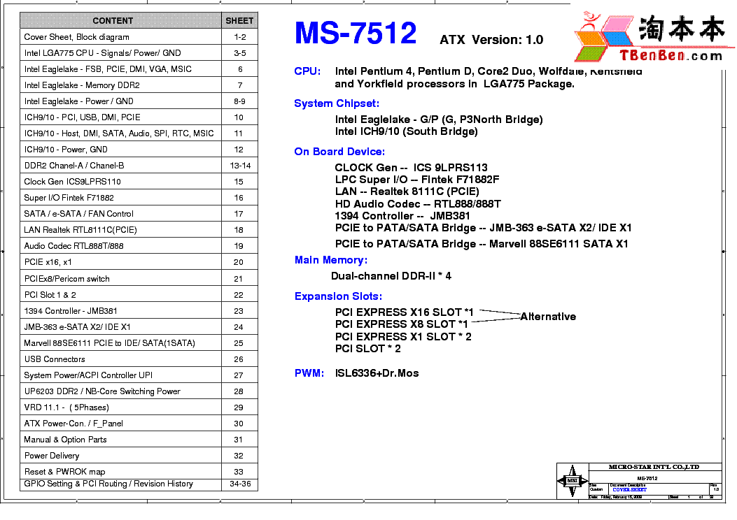 MSI MS-7512 REV 1.0 SCH service manual (1st page)