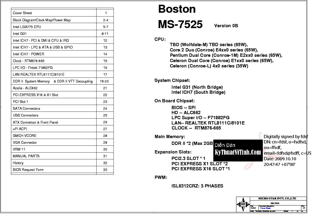 ms 7525 ver 1.0 motherboard manual