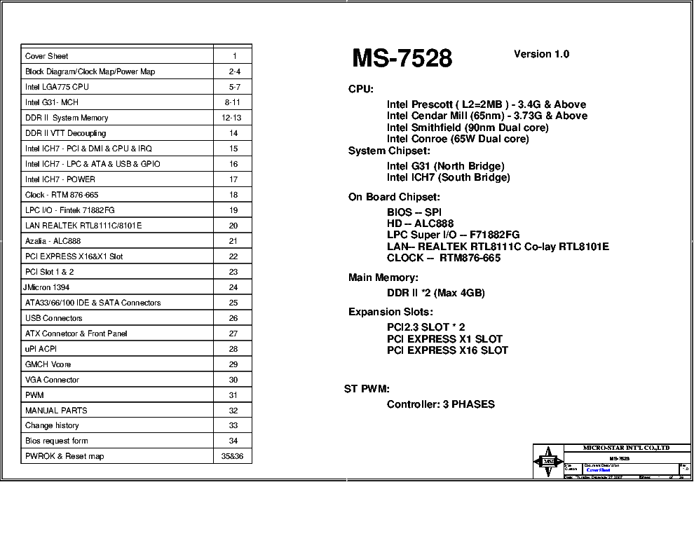 MSI MS-7528 REV.1.0 SCH service manual (1st page)