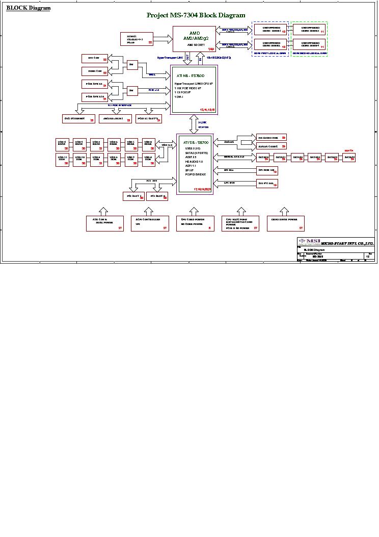 MSI MS-7550 REV 12 SCH Service Manual download, schematics, eeprom