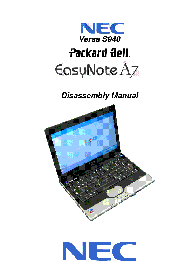 nec packard bell easynote a7 versa s940 service manual download rh elektrotanya com NEC Versa E6200 NEC Versa E6200