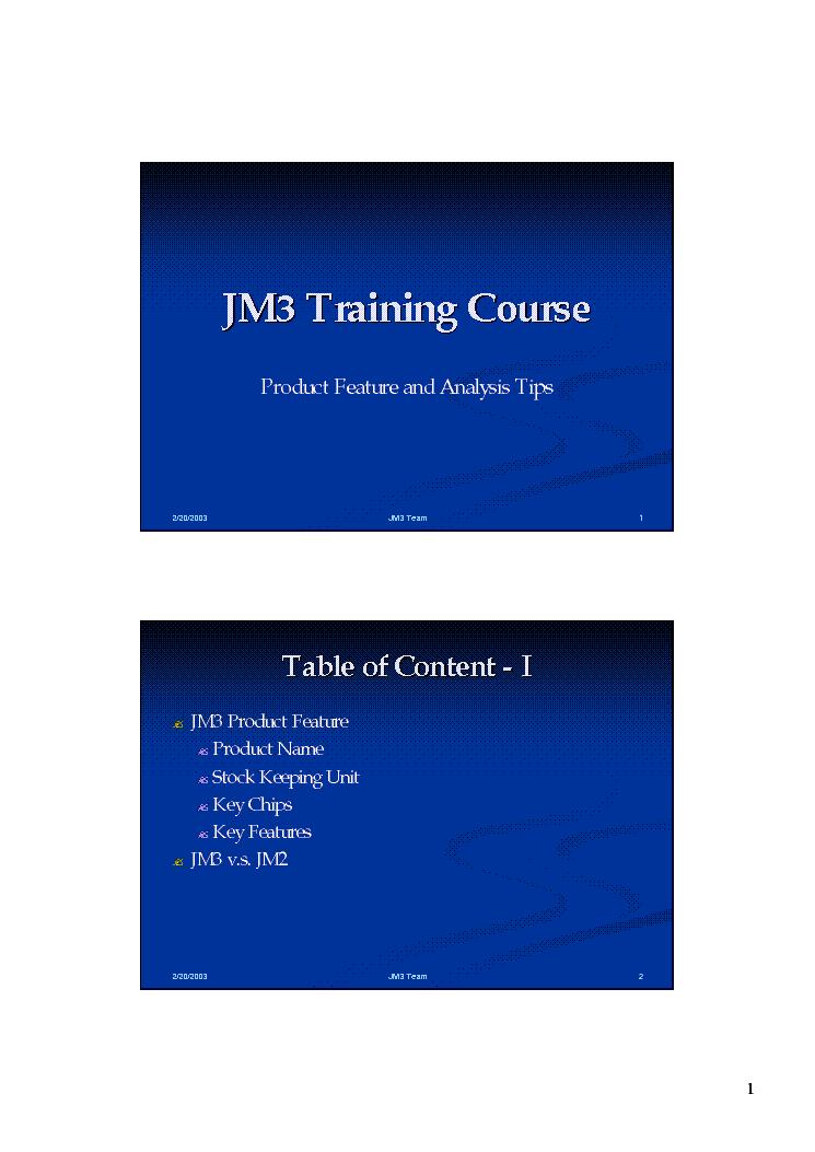 QUANTA JM2 JM3 TRAINING Service Manual download, schematics