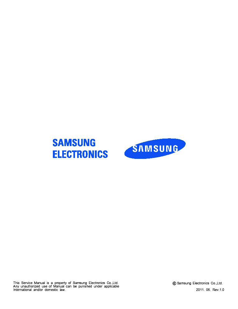 SAMSUNG GT-P7500 GALAXY TAB 10 1 3G SERVICE MANUAL Service
