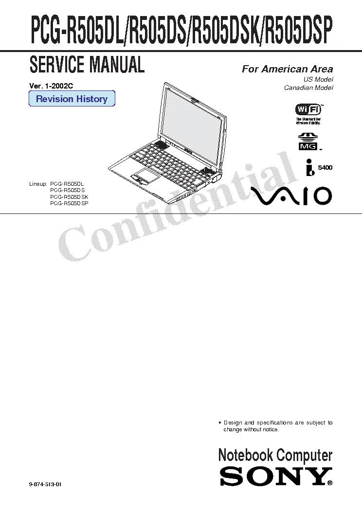 PCG R505DL TREIBER WINDOWS XP